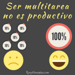 Ser multitarea no es productivo.