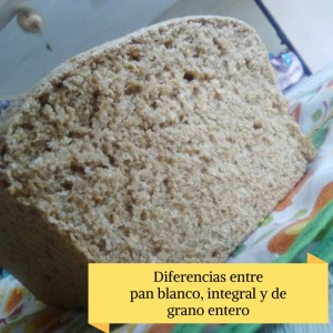 Pan blanco, integral y de grano entero